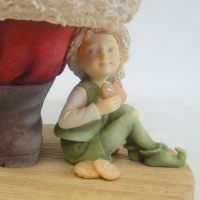 Heart of Christmas - Santa and Elf with Cookie Tray Figurine